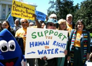 Human right to water campaigning in California